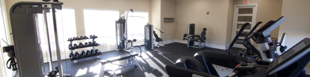 Tuscaloosa apartment amenities, apartment gym, beacon place apartments